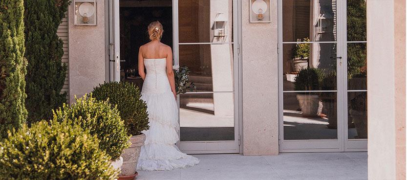 Novia en finca de bodas Villa Laureana