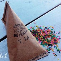 bolsas arroz colores boda