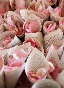 petalos rosa boda