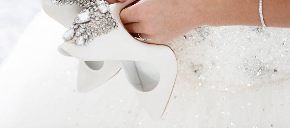 zapatos de tacon de novia