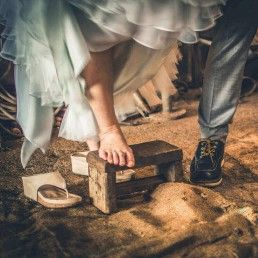 sandalias planas para novia