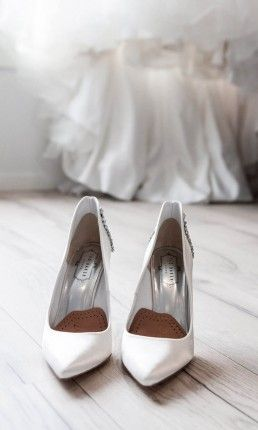 zapatos blanco de tacon para boda