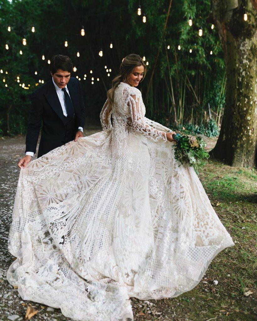 vestido de novia de María Pombó