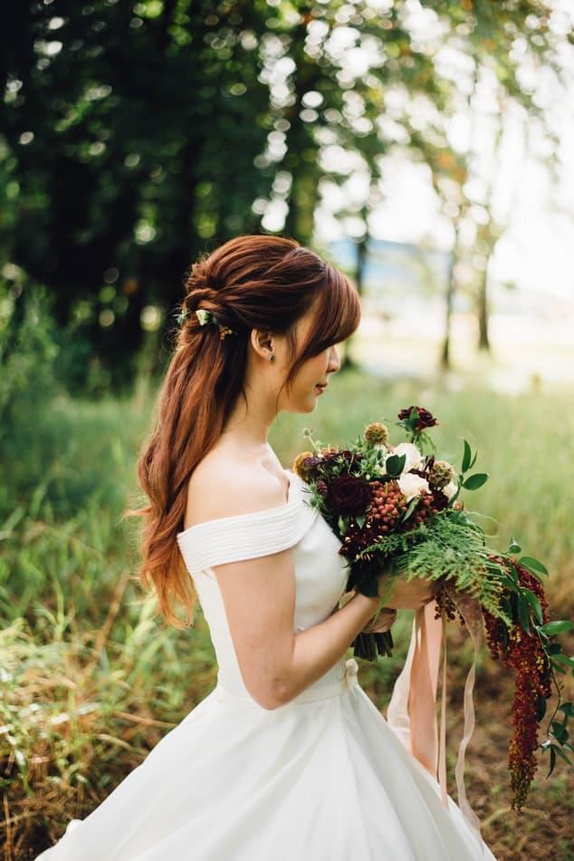 semirecogido novia