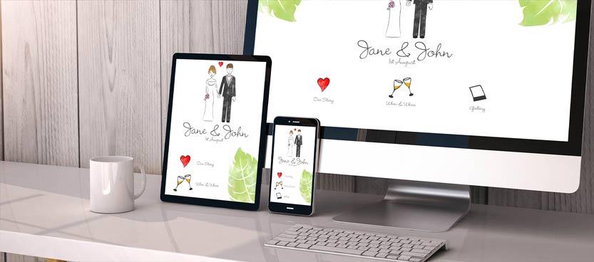 Invitaciones de boda digitales. Una propuesta de Villa Laureana