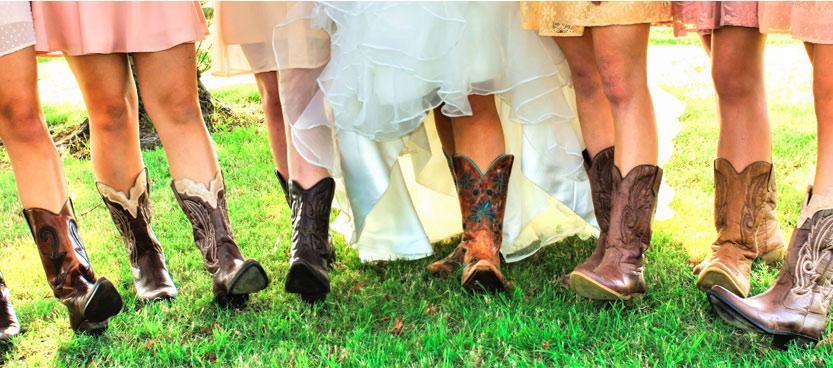 Novias con botas en Villa Laureana