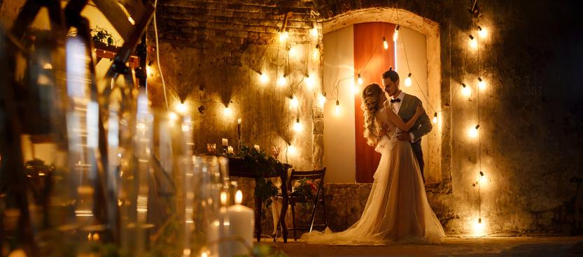 Pareja de novios en Villa Laureana, la finca de bodas del norte de Madrid