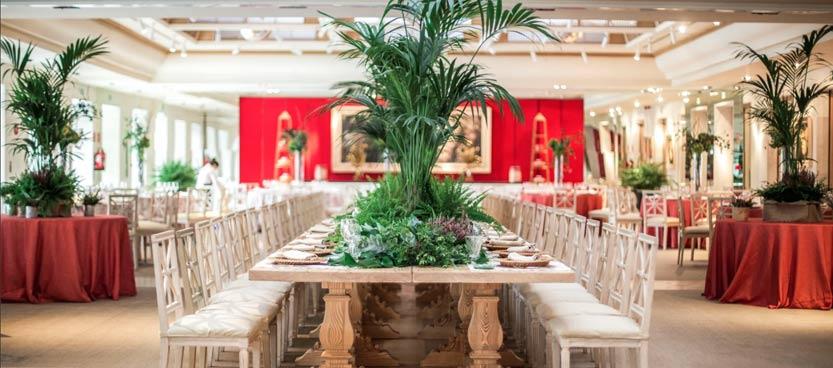 decoración floral en la finca de bodas Villa Laureana