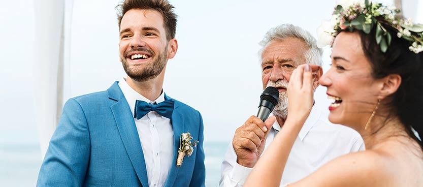 Funciones de un maestro de ceremonias en una boda. Villa Laureana