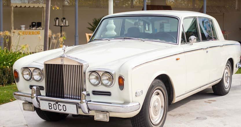 coche clásico boda villa laureana